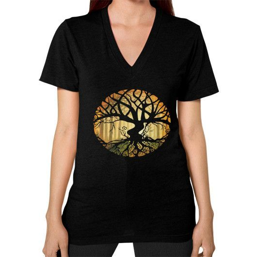 Druid Tree V-Neck (on woman)