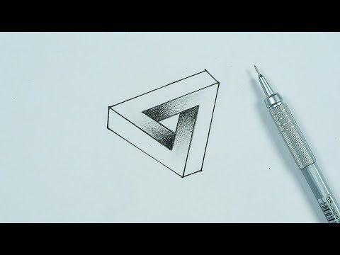 تعلم رسم خدع بصرية ثلاثية الابعاد 1 Drawing 3d Optical Illusions Youtube 3d Art Drawing Art Drawings Triangle Tattoo