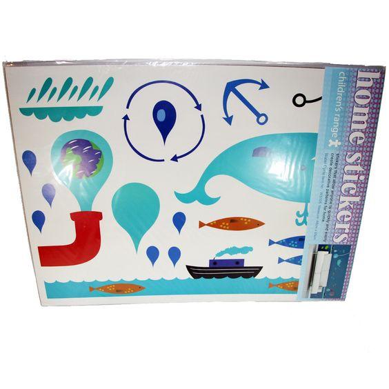 Walltattoo Water Cycle; Gesamtmaß Bogen 48 x 65 cm; 37 Sticker; aus Vinyl; nicht geeignet für Kinder unter 3 Jahren