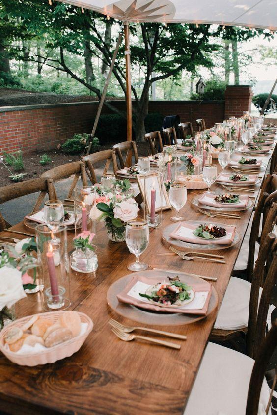 40 Simple Romantic Table Decorations For Rural Outdoor Weddings Page 20 Of 40 Backyard Wedding Romantic Backyard Wedding Lights