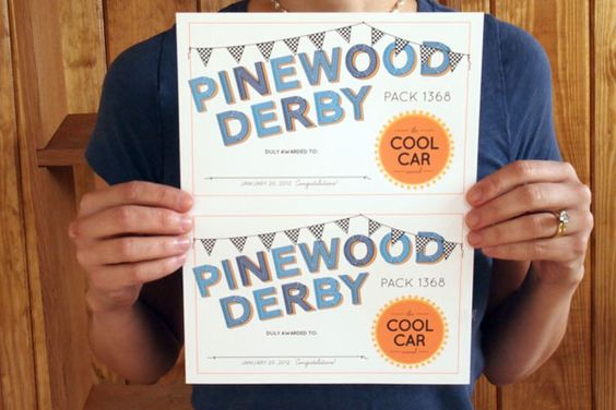 Pinewood derby award certificates and derby on pinterest for Pinewood derby certificate pdf