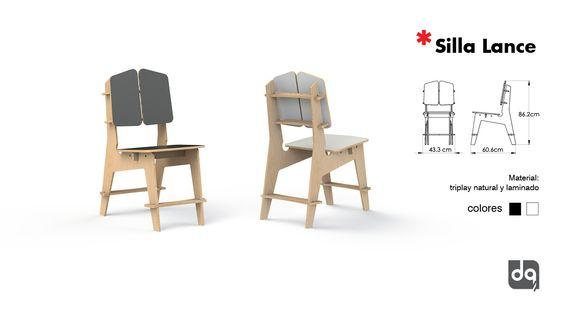 Silla fabricada en triplay, venta para casa, restaurante, cafetería, oficina, negocio.