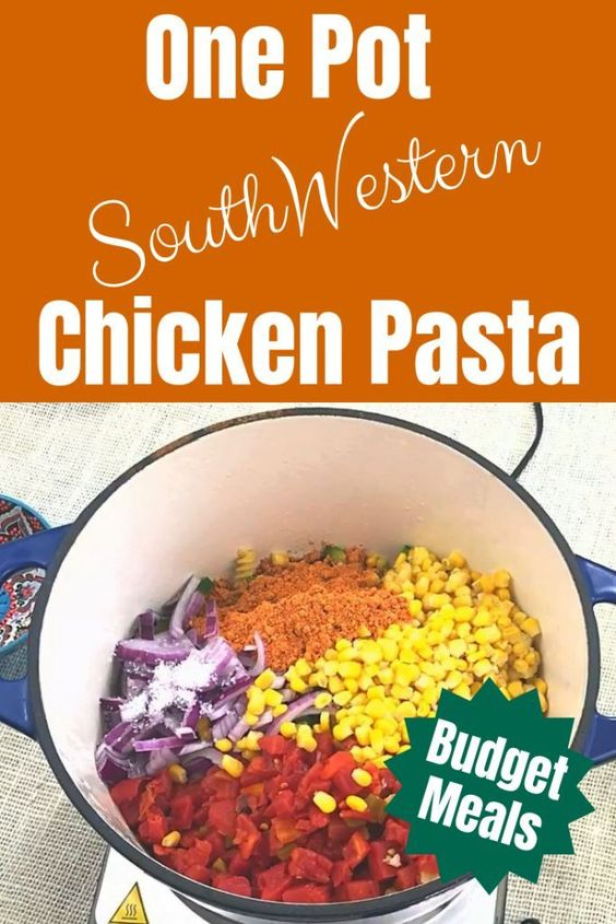 Budget Meals: One Pot South-Western Chicken Pasta - Navicore