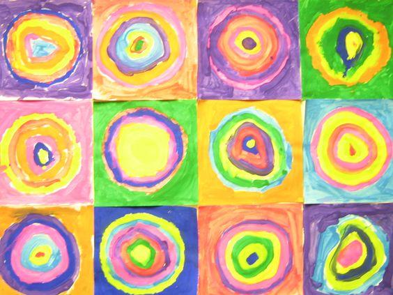 Kindergarten And Kandinsky Really Cool Art Project A