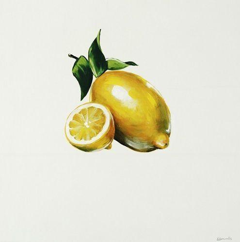 Lemon Ptm Images Canvas Wall Art Yellow Art