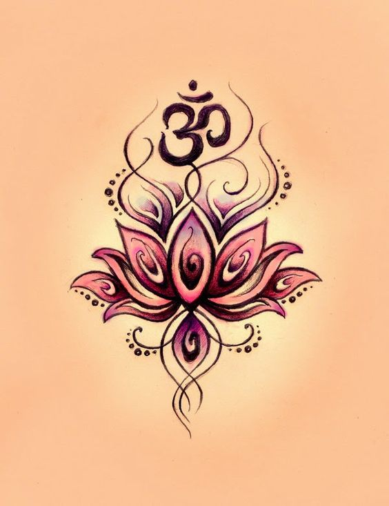 Gemini Symbol Tattoos with Flowers   Lotusblüte