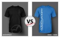 """Which shirt will win the CultureM T-Shirt Design Face-Off?  Two Competing designs: -""""Mazdaspeed"""" -""""Zoom-Zoom""""  Pre-order the shirt design you like the best!  Once a shirt reaches 20 pre-orders we will go to print!  Cast your pre-order vote now!  Shirt design that reaches 20 pre-orders will go to print IMMEDIATELY.  Customers will then be emailed details on expected delivery dates."""