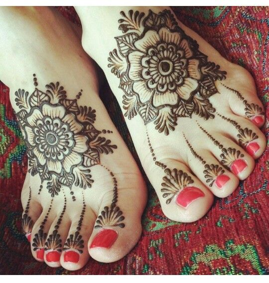 Top 50 Foot Henna Designs | Flower, Flower henna and Design