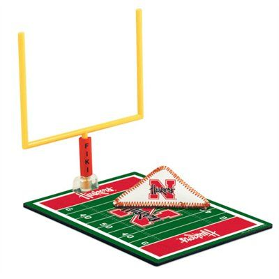 Hahaha! This would be fun for gameday parties! Nebraska Cornhuskers Tabletop Football #UltimateTailgate #Fanatics