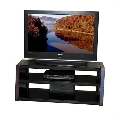 Tech Craft Monaco Series 48 Inch Wide Ntr Plasma Lcd Tv Stand In Walnut Finish Lcd Tv Stand Tv Stand Tv Wall Unit Tv stand 48 inches wide