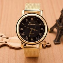 2015 Woman Watches Clock Female Casual Gold Watch Women Stainless Steel Geneva Watch Quartz Wristwatches Relogio Feminino(China (Mainland))