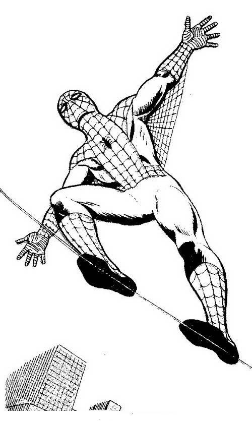 Spiderman Målarbilder för barn. Teckningar online till skriv ut. Nº 14