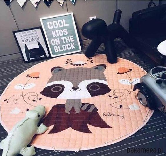 Stylowa mata do zabawy/worek na zabawki 150x150 - pokój dziecka - pojemniki na…