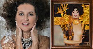 Foto inspirada na pintura de Klimt, Judith, 1901.