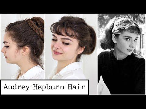 Four Audrey Hepburn Styles Hair Tutorial Hairstyles Matilda Blog In 2020 Audrey Hepburn Hair Audrey Hepburn Style Hair Hair Styles