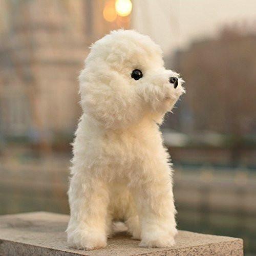 White Poodle Stuffed Animal Plush Toy Poodle Fluffy Animals