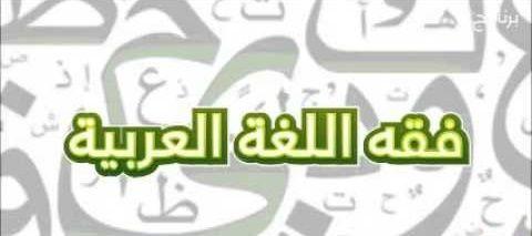 تعريف فقه اللغة اللغة العربية My Books Books