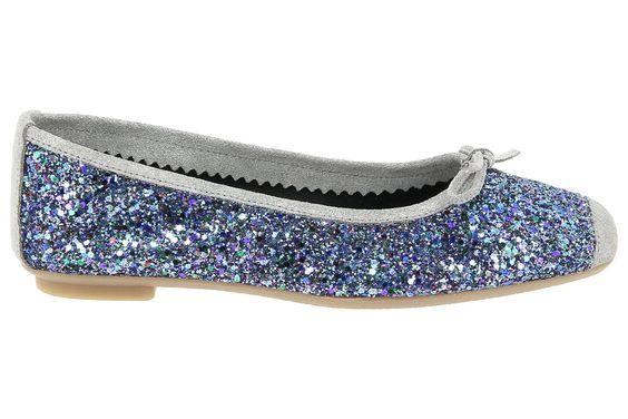 Ballerines reqins bleu harmony sparkle chaussures femme reqins