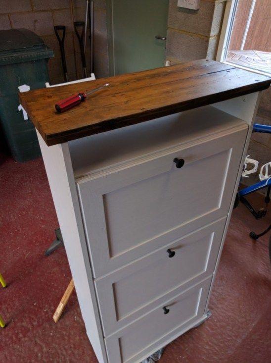 Upcycled Brusali Shoe Cabinet Ikea Shoe Cabinet Shoe Cabinet