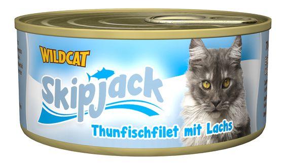 Skipjack - Thunfischfilet mit Lachs. Der vitaminreiche Thunfisch-Snack von Healthfood24 #healthfood24 #wildcatkatzenfutter #katzennassfutter