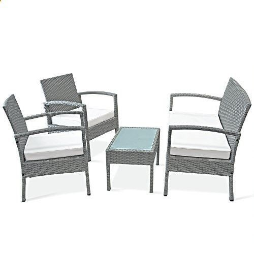 Clean And Care Garden Furniture   Clean And Care Garden Furniture   The  Polyrattan Set Consist Of 1 Table, 2 Chairs With 2 Removable Cushions And 1u2026