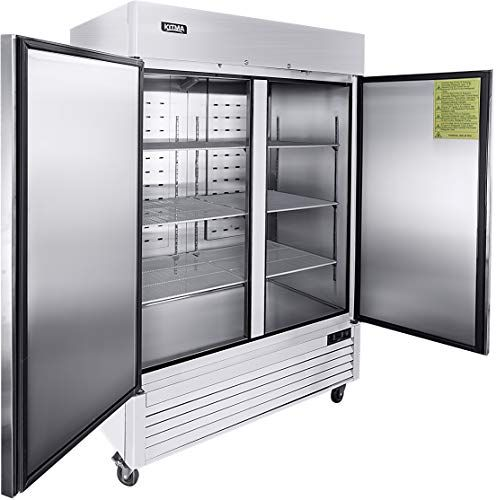 Buy 54 Two Section Solid Door Reach In Commercial Refrigerator Kitma 49 Cu Ft Side Side Stainless Steel Upright Fridge Restaurant Online Bestsellersoutfi In 2020 Commercial Refrigerators Solid Doors Upright Fridge