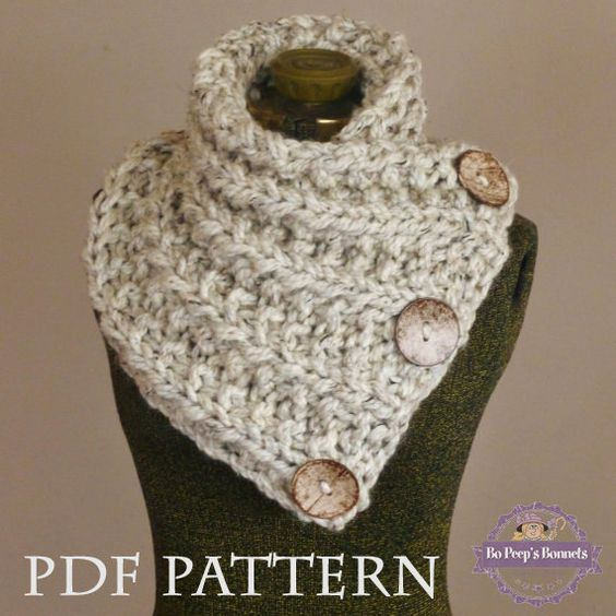 Knitting Pattern For Knit Scarf Cowl Or Neck Warmer : Lancaster, Knitting patterns and Knit scarves on Pinterest