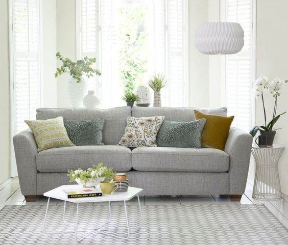 This exciting new addition to the House Beautiful DFS sofa collection combines sophisticated style with ultimate comfort. Styling: Hannah Deacon. Photography: David Brittain. Find more living room ideas at housebeautiful.co.uk