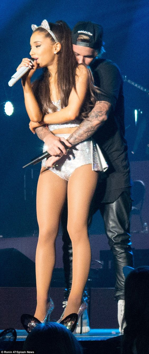 Love Me Harder: Justin Bieber got up close with friend Ariana Grande during a surprise app...