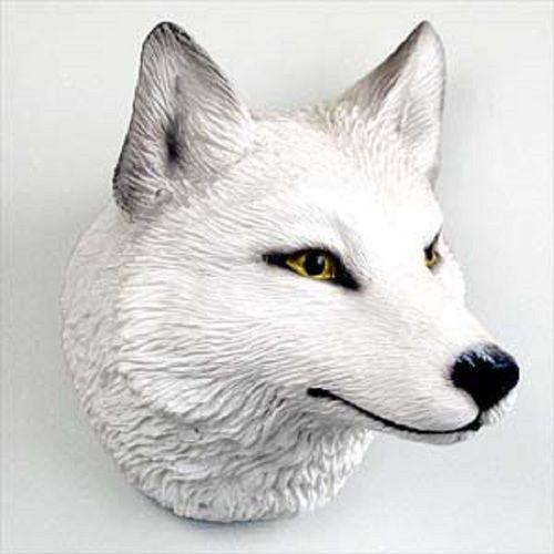 Wolf White Magnet