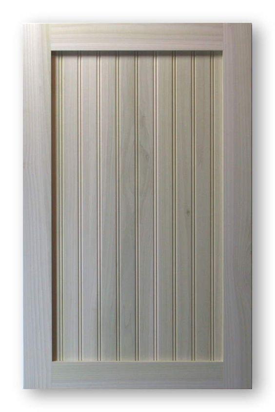 Shaker beadboard cabinet door poplar frame poplar panel for Beadboard kitchen cabinets