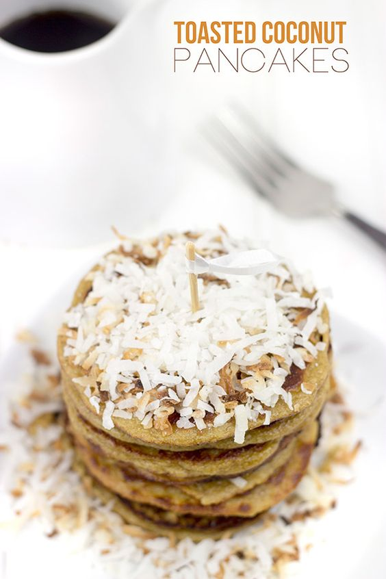 Gluten-Free Toasted Coconut Pancakes | Spiced