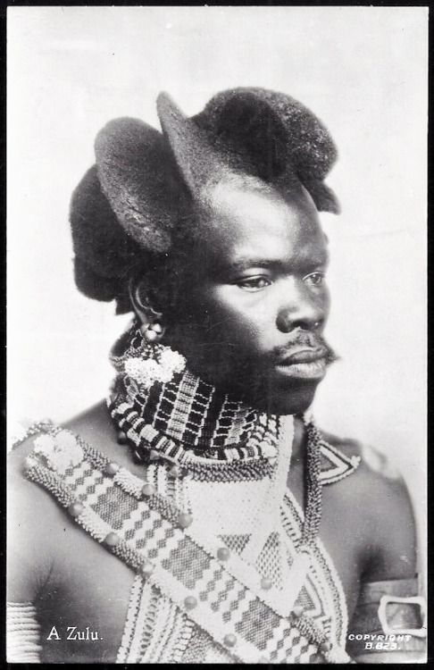 Portrait of a Zulu man from South Africa, circa 1938 (image viagrand-bazaar) - DynamicAfrica