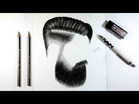 كيفية رسم بورتريه لرجل مع لحية خفيفة بالرصاص How To Draw Portrait Youtube Artwork Drawings Art