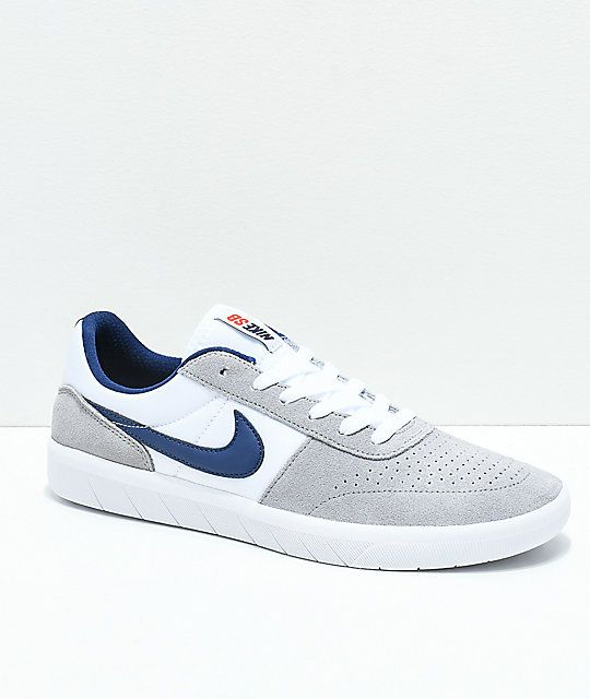 Nike Sb Team Classic Wolf Grey White Skate Shoes