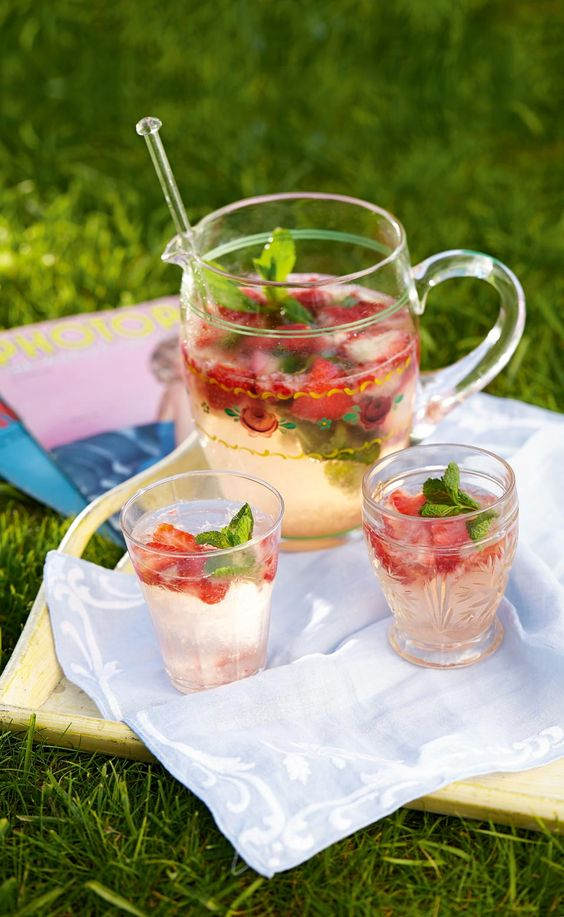 We've combined some of our favourite ingredients to make this refreshing summer drink recipe – strawberries, gin and prosecco.