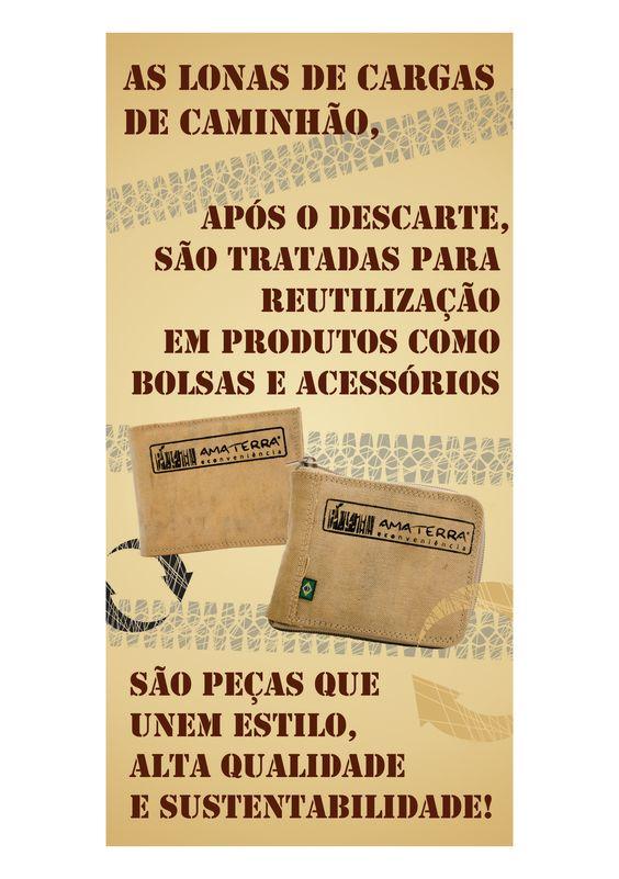 Como são feitas nossas peças de Lona e Caminhão Reciclada!  http://www.revendaamaterra.com.br/loja/espaco-juliajulia