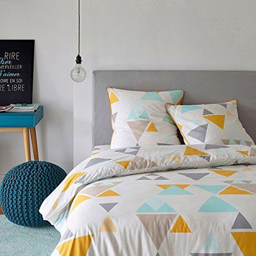 La Redoute Interieurs Hilora Multi Coloured Duvet Cover Grey Size Single 140 X 200cm Bed Linens Luxury Luxury Bedding Sets Duvet Covers Pastel