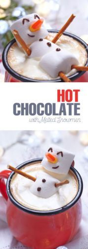 Ordinary hot chocolate just became so much cuter! This melting snowman floating in your cocoa will give the most amazing hot chocolate experience!
