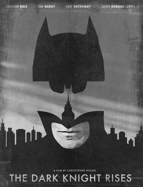 Minimal Movie Posters - The Dark Knight Rises by Jonas Ståhl