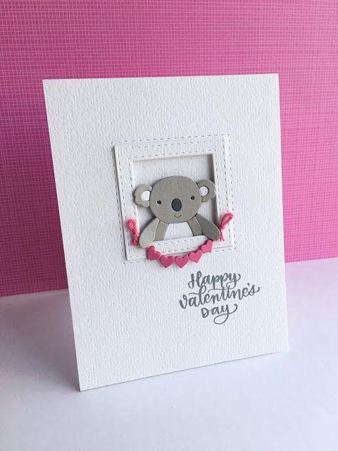 I M In Haven Koala Love Valentine Cards Handmade Valentines Day Cards Handmade Valentine Day Cards