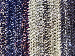 Variegated crochet afghan