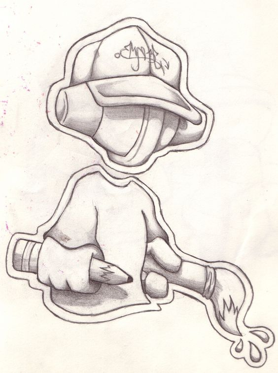 Cool Easy Graffiti Character Drawings | Graffiti Street Art | all ...