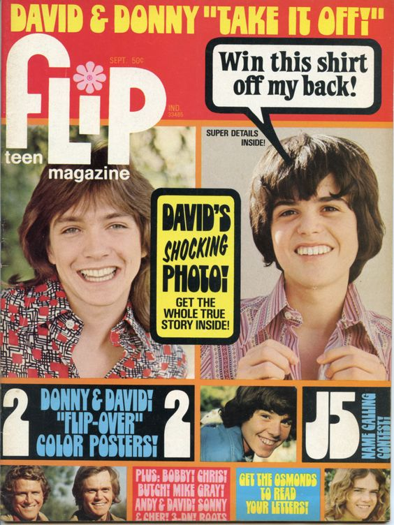 FLIP Sept 1972 - David Cassidy - Donny  Osmond - Chris Knight