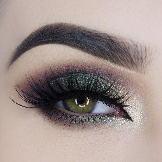 Forest green smokey eye #eyes #eye #makeup: