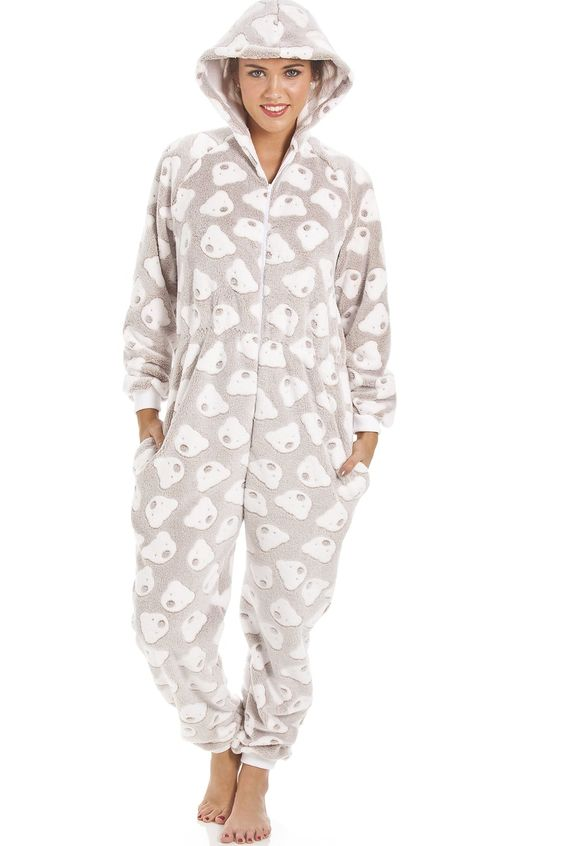 Mink Super Soft Fleece Knitted In Bear Design Hooded Onesie