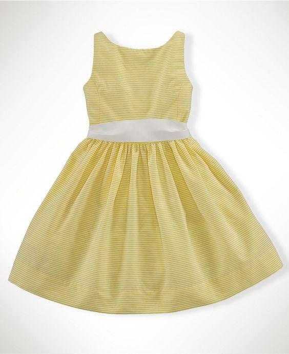 NEW!Ralph Lauren Kids Dress, Little Girls Bow Back Dress