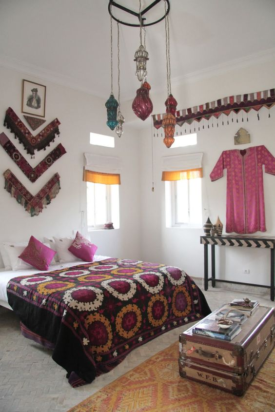 Moroccan designed bedroomcould potentially rig
