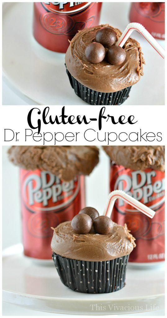 Gluten Free Dr Pepper Cupcakes