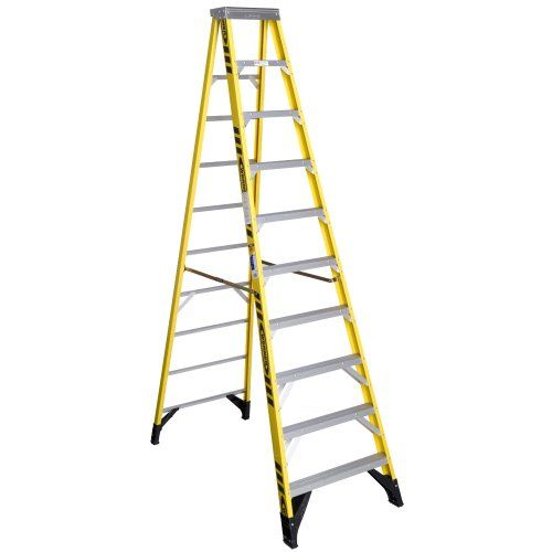 Werner 7310 375 Pound Duty Rating Type Iaa Fiberglass Stepladder 10 Foot Step Ladders Fiberglass Ladder